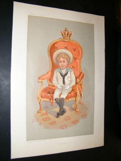 Vanity Fair Print 1893 The King of Spain, Royal | Albion Prints